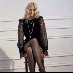 The Vampire's Wife x H&M Dress Lace Bell Sleeve